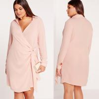 China New Design Nude Plus Size Shirts & Blouses Sexy Cross Dress on sale