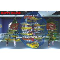 China Anti Decay  Color Adventure Playground Equipment For Park / School /  Mall wholesale