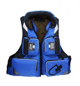 China Nylon Lifesaving Waterproof Water Sport Life Jacket Blue Fishing Life Vest For Kids wholesale