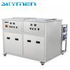 China Los portamaletas modificaron la máquina dual de la limpieza para requisitos particulares ultrasónica de los tanques con el enjuague/secador wholesale