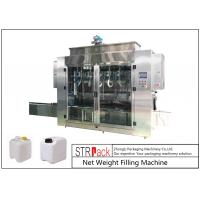 China Pesticide Liquid Weighing Filling Machine 10-16 B / MIN To Fill 5 - 25L Drums And Jerrycans wholesale