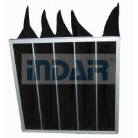 China Black Activated Carbon Air Filter Thin Thickness Low Resistance Large Filtration Area wholesale