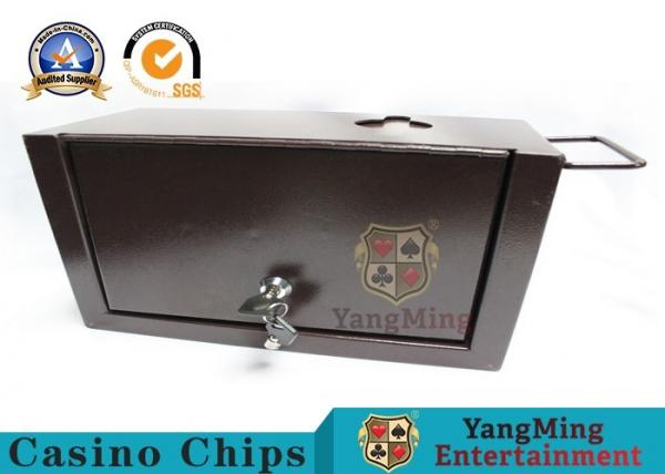 Quality Thick Metal Official Cash Tip Box , Casino Drop Box With Two Safety Locks for sale
