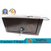 China Thick Metal Official Cash Tip Box , Casino Drop Box With Two Safety Locks wholesale