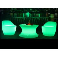 Illuminated Furniture Type LED Coffee Table Set With Rechargeable RGB Light