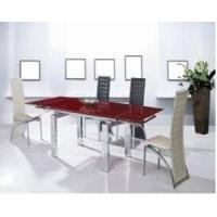 China Modern Dining Room Furniture Small Order extending glass dining table wholesale