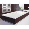 China White Glossy Natural Natural Quartz Countertops Cabinet Pre Cut wholesale
