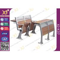 China Aluminum College Furniture Ladder Folding School Desk And Chair 520 * 480 * 780 mm wholesale