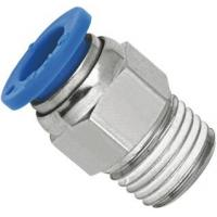 China Brass Nickel Planting Straight Pneumatic Push To Connect Fittings With NPT Threaded wholesale