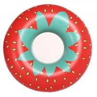China Giant Strawberry Inflatable Swim Ring 45 Inflatable Pool Floats with Rapid Valves wholesale
