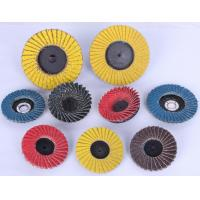 China Quick Change Mini Flap Disc,red,blue,blown,yellow,2-3 24#-600# sandcloth wholesale