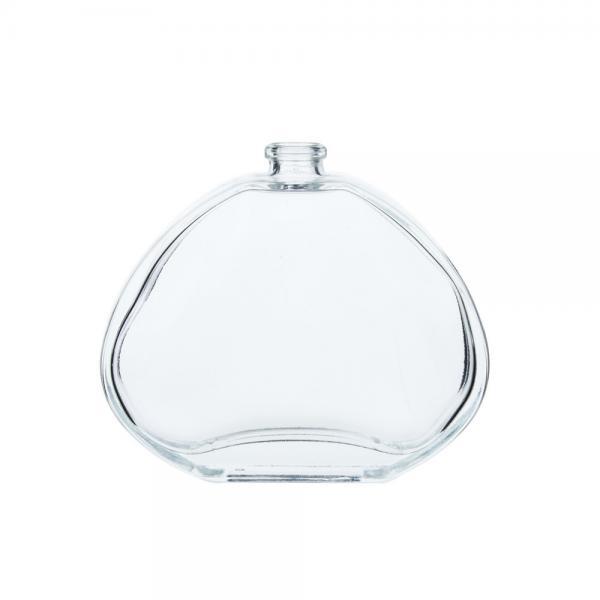 Quality 100ml楕円形の明確なひだのスプレーの香水瓶スクリーンの印刷表面 for sale