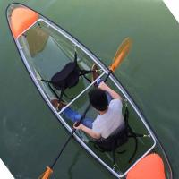 China Double Polycarbonate Plastic Crystal Clear Canoe Kayak For Two Person on sale