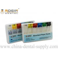 China Colour Coded 2% 4% 6% ISO Size Absorbent Paper Points Endodontic Material F1 F2 F3 wholesale
