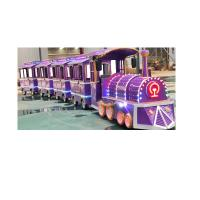 China Colorful Electric Trackless Train Kids Party Train ISO9001 3.4 * 1.2 * 2.1 M wholesale