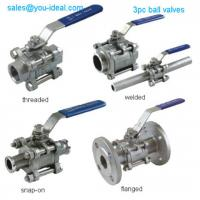 China 3PC Stainless Steel Threaded Ball Valve with Handle wholesale