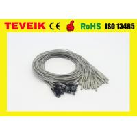 China TPU Material Eeg Cup Electrodes , Medical Cable Silver Chloride Plated Silver wholesale