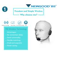 China FM Wireless Headset Microphone For Public Speaking Teachers Coaches Presentations Costumes on sale
