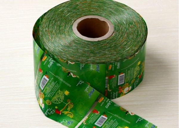 Quality Green PVC / PET  Heat Shrink Plastic Sleeve For Juice Bottle Packaging for sale