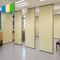 China Internal Fireproof Room Dividers Sliding Door Folding Office Partition Walls on sale