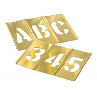 China Hand Tools Brass Interlocking Stencils Clean Up Easily With Paint Solvent wholesale
