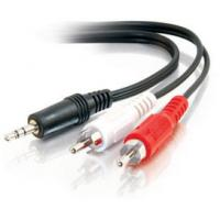 Quality High quality dc3.5 to 2rca cable(3.5mm male stereo jack to 2 male rca plugs cable ) for sale