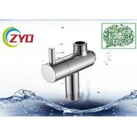 China Stainless Steel Shower Head Diverter Valve Silver Nickle Plating Finish on sale