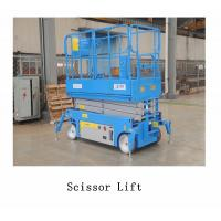 China 3.5km/H Lifting Speed Vehicle Scissor Lift , Self Propelled Electric Scissor Lift Steel Material wholesale