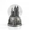 China Mini Silver Resin New York Snow Globe , Skyline Lady Liberty Snow Globe wholesale