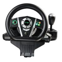 China Black / White Vibration Driving Game Steering Wheel For PC / X-Input / P2 / P3 wholesale
