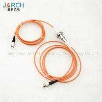 China Professional Stainless Steel Fiber Optic rotary joint / FORJ electrical connectors wholesale