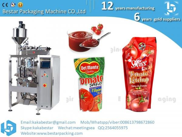 Quality Factory Price Automatic Filling And Sealing Liquid Sauce Tomato Paste Ketchup Small Sachet Packing Machine for sale