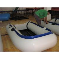 New Design Inflatable Paddle Boat , Small Inflatable Sport Boats Wear Resistant