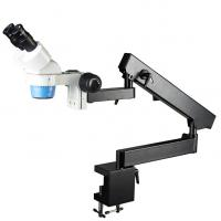 NXT24-STL6B 20X&40X Stereo Zoom Microscope on Flexible Arm Stand With Table Clamp