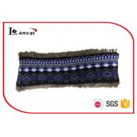 China Faux Fur Lining Crochet Snood Scarf For Kids , Navy Knit Cowl Scarf wholesale