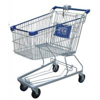 China Multi - Function Wire Shopping Carts USA Type Coin Locked Metal Shopping Basket wholesale