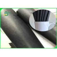 Buy cheap Biodegradable FDA 80gsm 135gsm Black Straw Food Grade Paper Roll With FSC from wholesalers