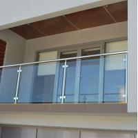 China Frameless glass railing wrought iron outdoor metal stair railing wholesale