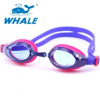 China Clear Wide Vision Anti Fog Swim Goggles Two - Layer Gasket For 3 - 12 Years Old Child wholesale