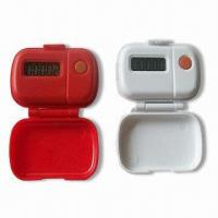 China Promotional Pedometer with Large LCD, Made of Plastic, Belt-clip Type wholesale