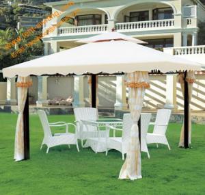 China Outdoor Leisure Powder coated Steel Garden Gazebo Canopy Garden Pavilion wholesale