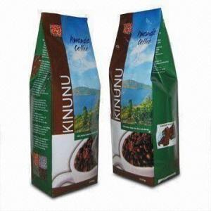 China Coffee Bean Packaging Bags Plastic Tea Bags Packaging For Coffee , Square Bottom Bags wholesale