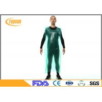 China Waterproof Sleeveless Disposable Plastic Aprons , Industrial Disposable Plastic Smocks on sale