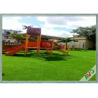 China 35  MM Height Easy Maintenance Outdoor Artificial Grass For Kids Amusement Park wholesale