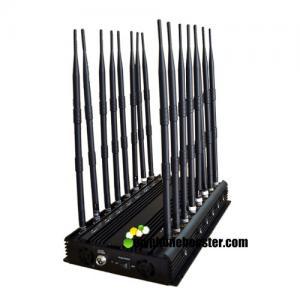 China 24 Hours Working 16 Antennas 38w Power Adjustable Vehicle Mounted Cellphone Jammer Blocker Lojack  Mobile Signal Jammer wholesale