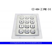 12 Full Travel Button Metal Keys Numeric Keypad For Ticket Machines