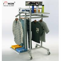China MOQ 20pcs Clothing Store Fixtures Factory Price Metal Clothing Rack For Retail Store wholesale