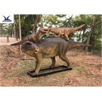China Life Size Animatronic Dinosaur Garden Ornaments Mother And Baby Garden Display wholesale