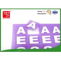 China Reusable Die Cut hook and loop Alphabet Letters , self adhesive hook and loop dots With Printing Words wholesale