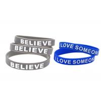 China Blue Or Gray Sports Silicone Wristbands / Custom Made Silicone Bracelets wholesale